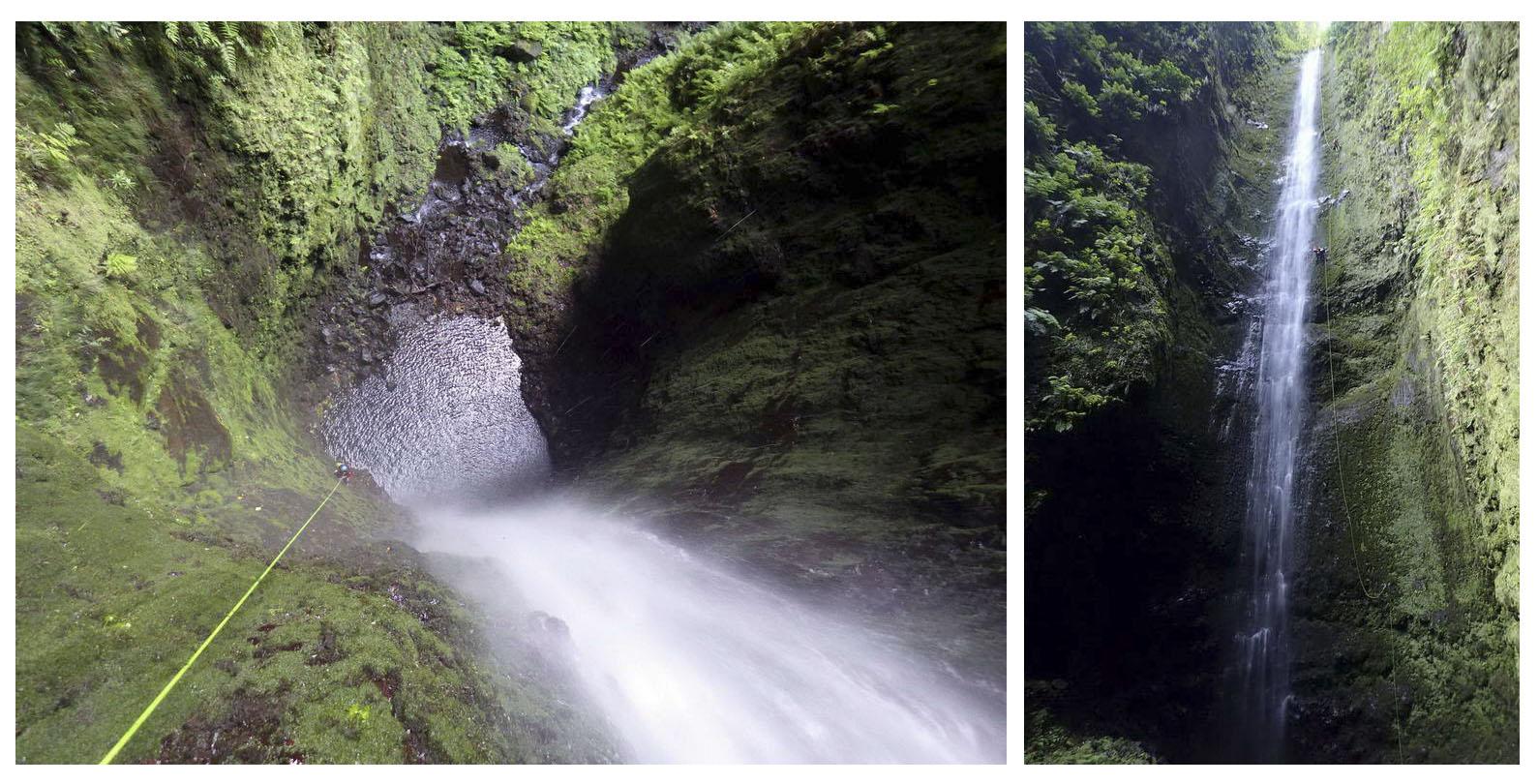 Apertura de la cascada de 111m del barranco Capulla | Madeira (PT) | © Duarte Silva