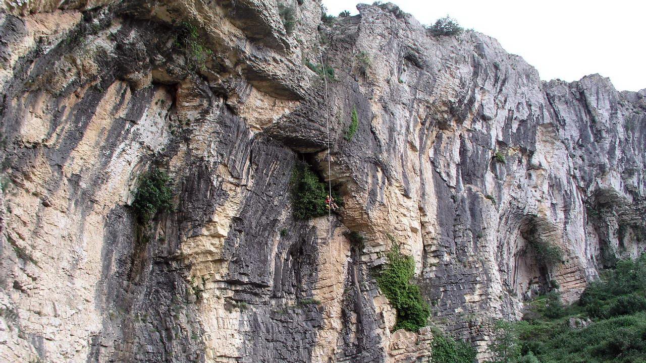 Barranc dels Llidoners durante la integral del Río Girona | Alicante